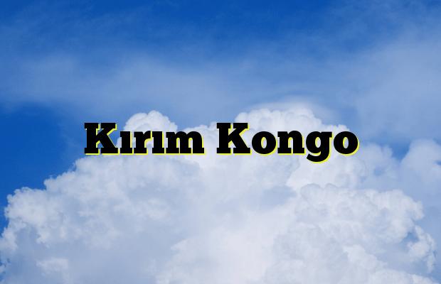 Kırım Kongo