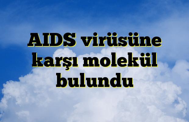 AIDS virüsüne karşı molekül bulundu