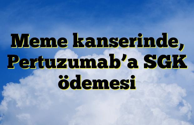 Meme kanserinde, Pertuzumab'a SGK ödemesi
