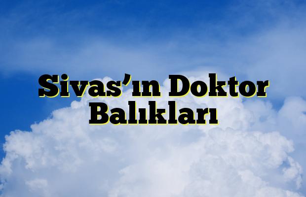Sivas'ın Doktor Balıkları