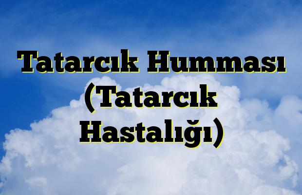Tatarcık Humması (Tatarcık Hastalığı)
