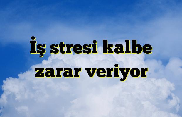İş stresi kalbe zarar veriyor