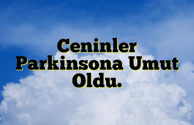 Ceninler Parkinsona Umut Oldu.