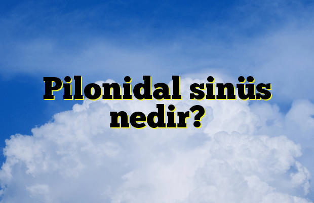 Pilonidal sinüs nedir?